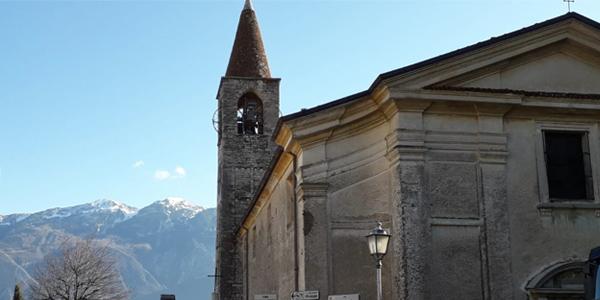 Die kleine Pfarrkirche von Pieve di Tremosine